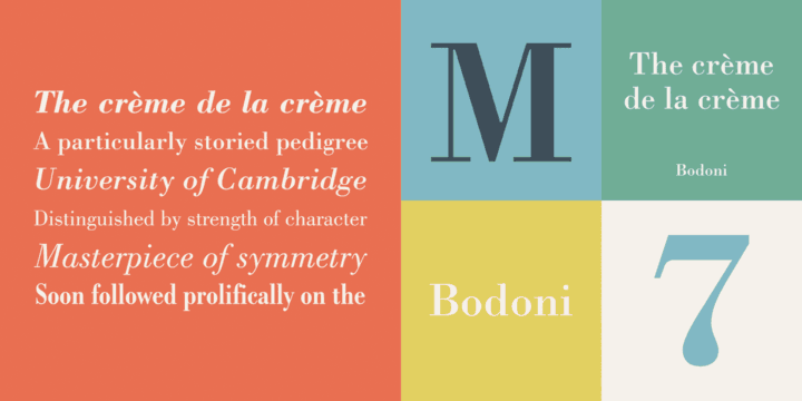 Bodoni by Bitstream, a classic didone font that looks great in fashion and magazine style blogs. One of the font types I recommend for feminine designs in this roundup of 9 feminine font trends for 2016.