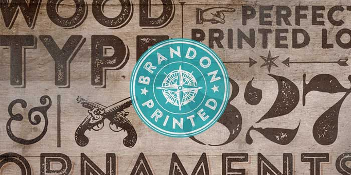 Brandon Printed by HVD Fonts is the rustic version of Brandon Grotesque discussed above. A perfect alternative if you want something softer and more organic than the original. It's a rustic, grunge, hipster font for your organic, hand-made designs and blogs. One of the font types I recommend for feminine designs in this roundup of 9 feminine font trends for 2016.