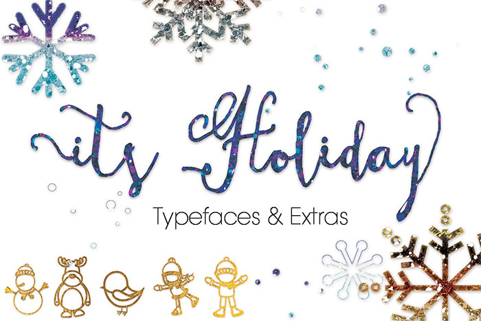 It's Holiday Font - A roundup of Christmas and holiday graphics and fonts for your holiday blog posts and social media posts!