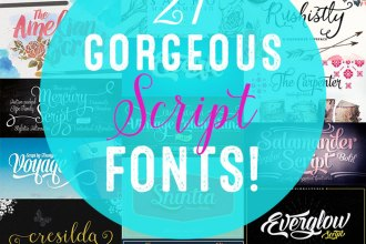 21 Best Selling Beautiful Fonts (With Web Fonts and Extended Licensing) Just $29!!!