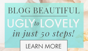 Blog Beautiful: 50 Tips + Fixes to Make Your Blog Glow. Written for the novice or experienced DIY designer, this beautiful 178-page ebook will help you take your blog from ugly to lovely! Join the affiliate program today on www.designyourownblog.com and learn how you can get it for free!