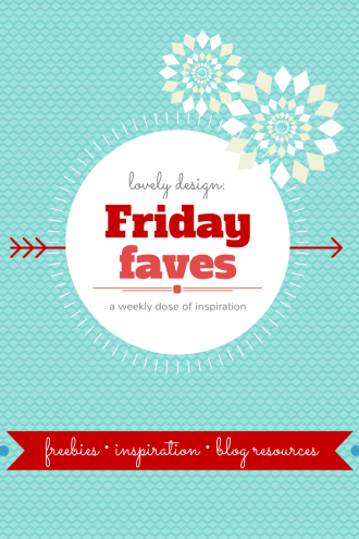 Friday Faves: Your Weekly Dose of Blog Design Inspiration from http://www.DesignYourOwnBlog.com
