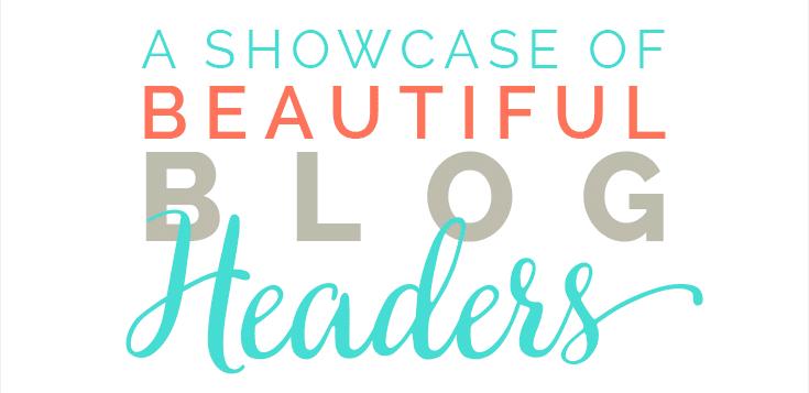 A showcase of beautiful blog headers on DesignYourOwnBlog.com