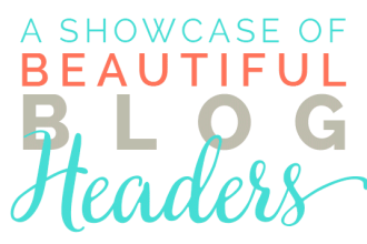 A showcase of beautiful blog headers on DesignYourOwnBlog.com