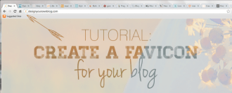 Tutorial: Create a Favicon for your Blog!