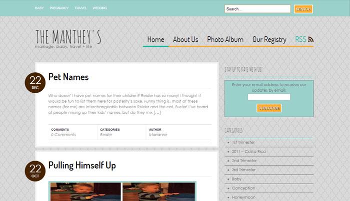 Customized Bueno WordPress theme