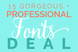 15 Gorgeous Professional Fonts for $15 Deal ends 6/15!