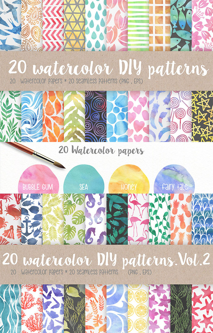 Loads of Feminine Patterns, Textures & Backgrounds for 95% Off!