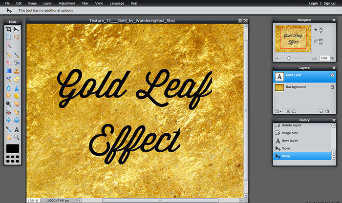 Tutorial: Adding gold leaf texture to your blog.