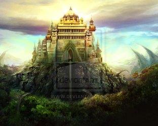 castle fantasy castles nature matte paintings designyourway natur