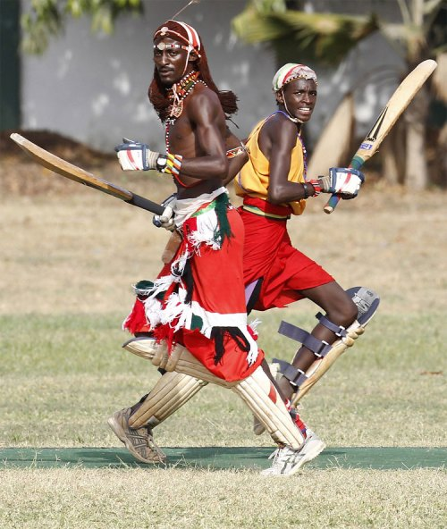 1103 Kenya's Maasai 'Warriors' Campaign for Healthy Lifestyle by Playing Cricket