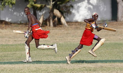 344 Kenya's Maasai 'Warriors' Campaign for Healthy Lifestyle by Playing Cricket