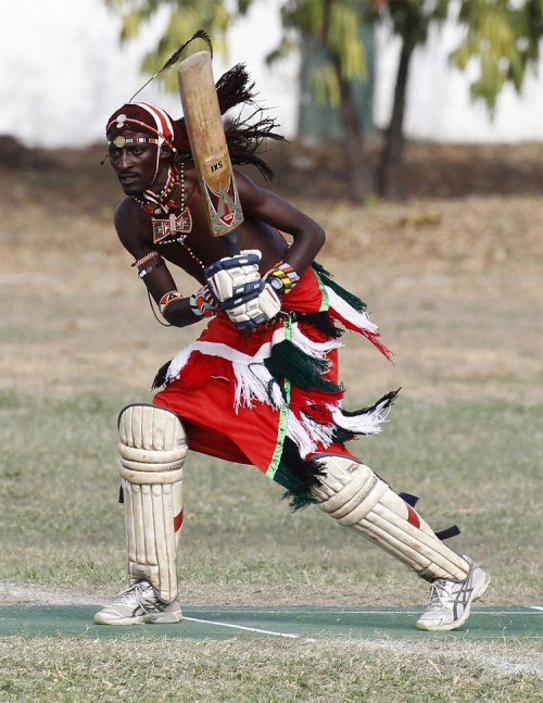 728 Kenya's Maasai 'Warriors' Campaign for Healthy Lifestyle by Playing Cricket