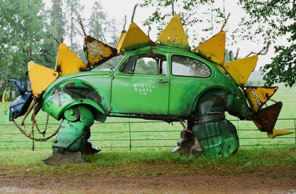 dino beetle VW Beetle Stegosaurus