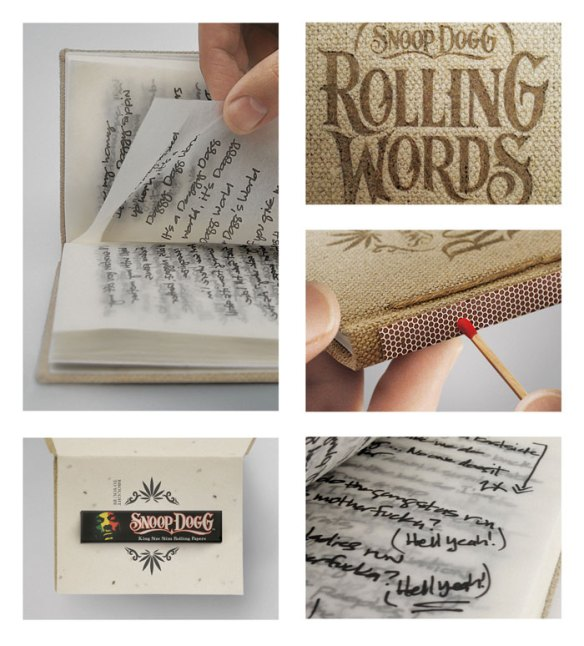 RollingWords Detail Rolling Words, Snoop Dogg's smokable songbook