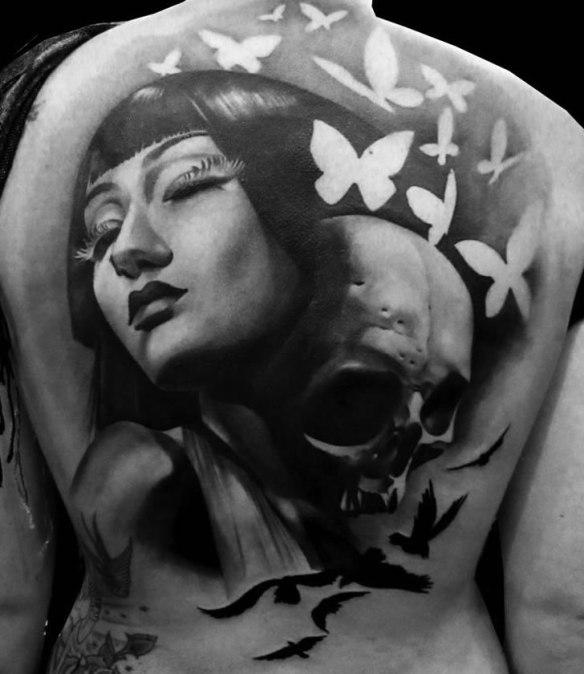 matteo pasqualin 01 Artistic Back Tattoo