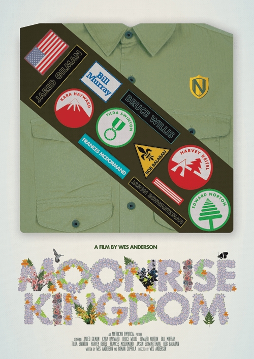 MOONRISE KINGDOM 1 WES ANDERSON PRINTS BY @NEEDLEDESIGN