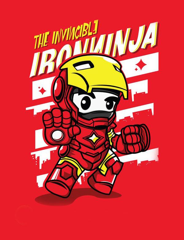 ninja superhero ironman Ninja Superheroes