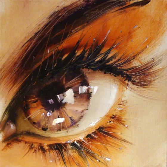 pavelguzenkoeyepaintings4 Spectacular Oil Paintings of Twinkling Eyes