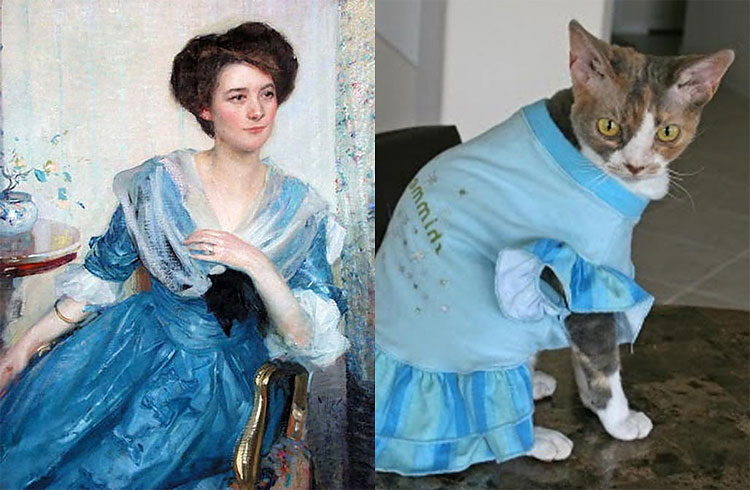 296 The Copycats: Cats Imitating Famous Works Of Art