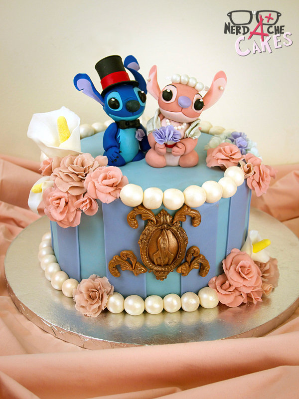 Pastel Stitch Disney 1 Stitch and Angel Cake