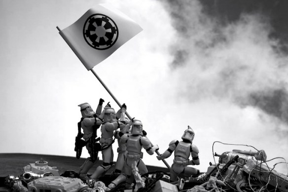 david eger01 Iconic Images Recreated Featuring Troopers from Star Wars