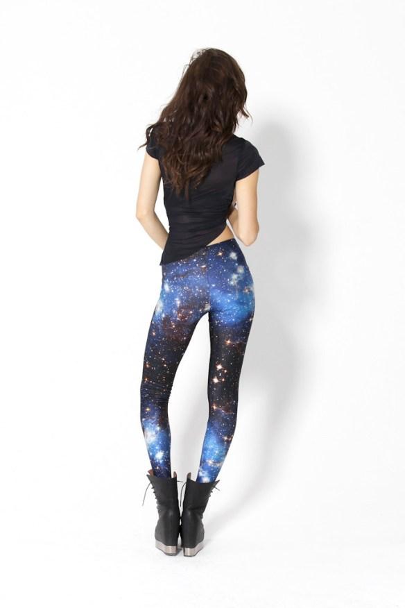 Galaxy Blue Leggings from blackmilkclothing.com back Galaxy Blue Leggings from blackmilkclothing.com