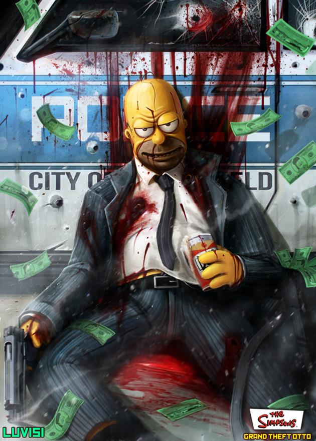 Homer Simpsons Reimagined as Grimy Crime Show