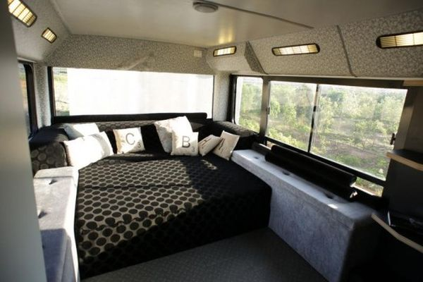 Bus living space Israeli designer converts a decrepit bus into a living space