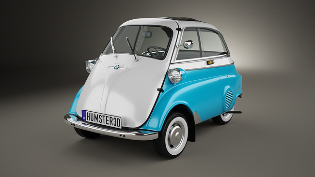 BMW Isetta 300 1956 1 Five Rare Cars   3D Reconstruction