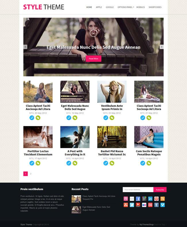 style screenshot Best Stylish & Feminine WordPress Themes for Women