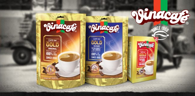 vinacafe original range 650x321 VinaCafe '3 in 1 Gold' brand re positioning & packaging design