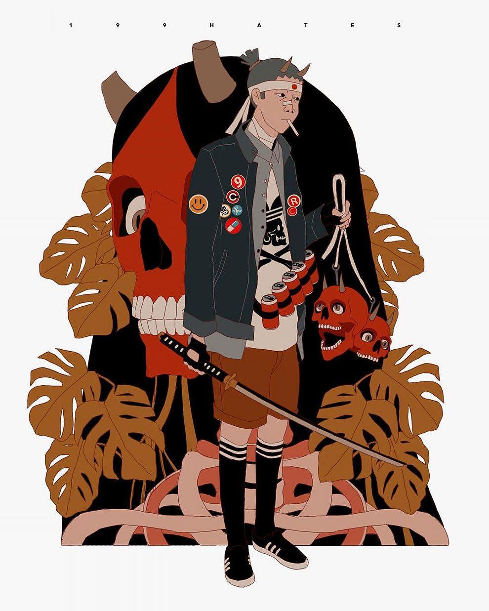 Potato Wallpaper Cute Streetwear Illustrations Dive Into A Dystopian World Of