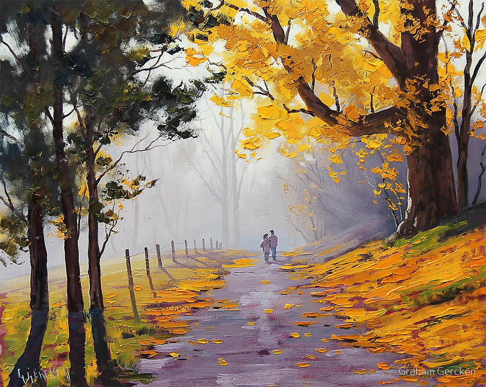 Falling Leaves Animated Wallpaper Beautiful Australian Landscape Oil Paintings By Graham