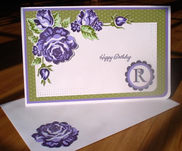 Rosie Birthday Card July 2009