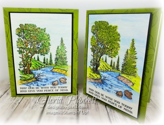 Peaceful place stamp set, splitcoaststampers, old olive cardstock, memento tuxedo black ink, black stazon ink,  fluid 100 watercolor paper, watercolor pencils, watercolor pencils assortment 2, thick whisper white cardstock, whisper white cardstock,  stamparatus, aqua painters, blender pens, clear wink of stella, stampin' trimmer, very vanilla cardstock, sponge daubers,  dimensionals, paper snips, multipurpose liquid glue take your pick, SNAIL adhesive, stampin' up! Demonstrator, how to, diy handmade,  homemade,  rubber stamping, greeting card, crafts cardmaking