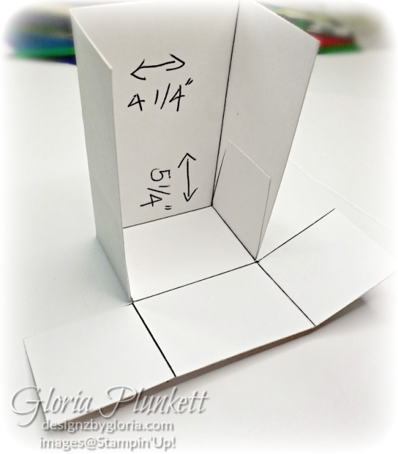 You will now add Tear & Tape to the center panels and adhere to the tote as shown in the photo below.