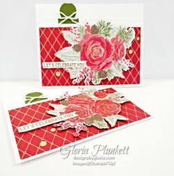 "Itty bitty birthday greetings stamp set, roses dies, gold glitter enamel dots, cherry cobbler cardstock, mossy meadow cardstock, Christmastime is here specialty designer series paper, tear n tape, ¾"" circle punch, simply scored, paper trimmer, Paper Snips, Take Your Pick Tool, Stampin' Sponges, White Chalk Marker, Stitched Rectangle Dies, sip & celebrate dies, Grid Paper, stampin sponge, perfectly plaid Stamp set, truck ride dies, shimmery crystal effects, braided linen ribbon, to every season stamp set, every season punch, gold foil paper, shaded spruce cardstock, cherry cobbler cardstock, wrapped in plaid 6 x 6 designer series paper, thick whisper cardstock, silicone craft mat, grid paper, gold delicata reinker, polka dot tulle ribbon, come to gather designer series paper, splitcoaststampers, come painters, blender pens, clear wink of stella, stampin' trimmer, very vanilla cardstock, sponge daubers, dimensionals, paper snips, multipurpose liquid glue take your pick, SNAIL adhesive, stampin' up! Demonstrator, how to, diy handmade, homemade, rubber stamping, greeting card, crafts cardmaking to gathered ribbon combo pack, Tags & More Accessory kit, every season punch pack, bronze delicata ink pad, black stampin dimensionals, detailed trio punch, basic black cardstock, old olive classic ink, memento tuxedo black ink, black stazon ink, thick whisper white cardstock, whisper white cardstock, stamparatus, aqua painters"