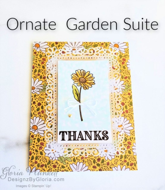 """Ornate style stamp set, in the tropics dies, ornate thanks stamp set, ornate border dies, ornate layers dies, ornate floral 3d embossing folder, ornate garden ribbon, ornate garden specialty designer series paper, best dressed 6"""" x 6"""" dsp, pear pizzazz classic ink, sponge daubers, peaceful moments stamp set, subtles embossing folder, rectangle stitched dies, saddle brown stazon ink, blushing bride cardstock, from my heart faceted gems, pear pizzazz classic ink, pleased as punch designer series paper, granny apple green cardstock, basic black cardstock, gorgeous grape cardstock, rococo rose light and dark stampin' blends, granny apple green dark and light stampin' blends, watercolor pencils, blender pen, petal pink cardstock, stitched so sweetly dies, rectangle stitched framelits, 5/8"""" whisper white flax ribbon, real red rhinestones, silicone craft mat, white embossing powder, versamark ink pad, heat tool, watercolor paper, crumb cake cardstock, tear & tape, 1"""" circle punch, simply scored, paper trimmer, Paper Snips, Take Your Pick Tool, Stampin' Sponges, White Chalk Marker, Stitched Rectangle Dies, sip & celebrate dies, Grid Paper, stampin sponge, perfectly plaid Stamp set, truck ride dies, shimmery crystal effects, braided linen ribbon, to every season stamp set, every season punch, gold foil paper, shaded spruce cardstock, cherry cobbler cardstock, wrapped in plaid 6 x 6 designer series paper, thick whisper cardstock, silicone craft mat, grid paper, polka dot tulle ribbon, come to gather designer series paper, splitcoaststampers, come painters, blender pens, clear wink of stella, stampin' trimmer, very vanilla cardstock, sponge daubers, dimensionals, paper snips, multipurpose liquid glue take your pick, SNAIL adhesive, stampin' up! Demonstrator, how to, diy handmade, homemade, rubber stamping, greeting card, crafts cardmaking to gathered ribbon combo pack, Tags & More Accessory kit, black stampin dimensionals, detailed trio punch, basic black cardstock, old olive """