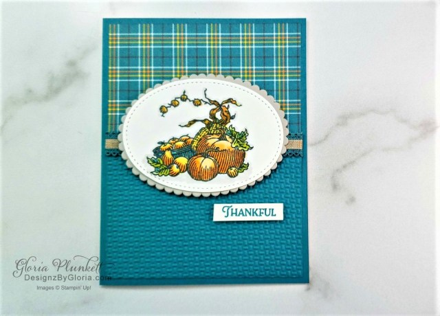 """Plaid tidings designer series paper, autumn goodness stamp set,  autumn wheelbarrow dies, vellum cardstock, slimline, tall, apple builder punch, autumn eaves punch pack, plaid tidings designer series paper, stitched rectangle dies, ornate thanks stamp set, hammered metal 3d embossing folder, poppy moments dies, jar of flowers stamp set, layering square dies, Playful alphabet dies, gather together stamp set, pet dies, whale builder punch, playful pets designer series paper, whale of a time dsp, 3/8"""" sheer ribbon, whale of a time sequins, Gold hoop embellishments, free as a bird stamp set, magenta madness cardstock, cinnamon cider cardstock, just jade cardstock, magenta madness cardstock, jar punch, ornate garden specialty designer series paper, itty bitty greetings, pear pizzazz cardstock, seaside spray cardstock, pressed petals specialty designer series paper, botanical prints product medley, detailed band dies, ornate layers dies, Ornate style stamp set, ornate garden specialty designer series paper, ornate layers dies, grapefruit grove cardstock, gold glitter enamel dots, coastal weave 3d embossing folder, basket weave embossing folder, a wish for everything stamp set, word wishes dies, ornate layers dies, ornate floral 3d embossing folder, ornate garden ribbon, ornate garden specialty designer series paper, best dressed 6"""" x 6"""" dsp, pear pizzazz classic ink, sponge daubers, peaceful moments stamp set, subtles embossing folder, rectangle stitched dies, saddle brown stazon ink, blushing bride cardstock, from my heart faceted gems, pear pizzazz classic ink, pleased as punch designer series paper, granny apple green cardstock, basic black cardstock, gorgeous grape cardstock, rococo rose light and dark stampin' blends, granny apple green dark and light stampin' blends, watercolor pencils, blender pen, petal pink cardstock, stitched so sweetly dies, rectangle stitched framelits, 5/8"""" whisper white flax ribbon, real red rhinestones, silicone craft mat, white embossing p"""