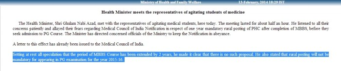 7.5 year mbbs and rural posting