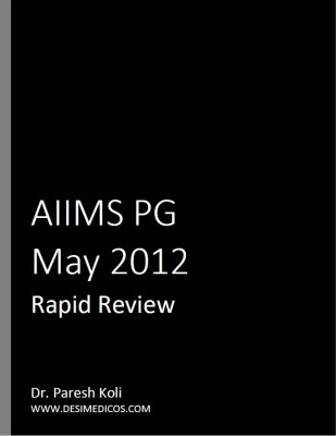 AIIMS PG May 2012 Rapid Review cover