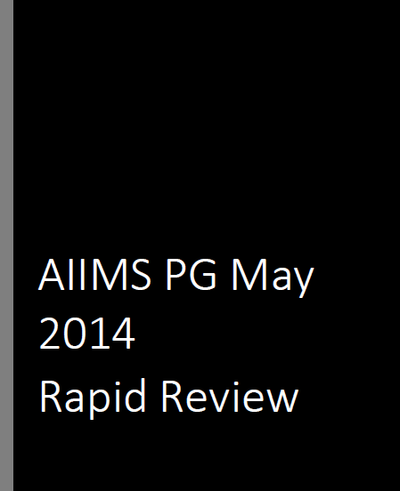 AIIMS PG May 2014 Rapid Review Cover