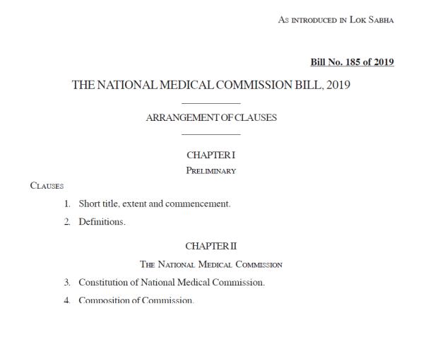 NMC bill 2019