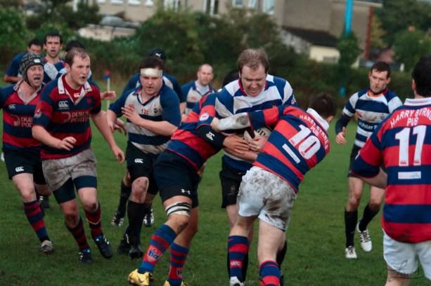 Two man tackling