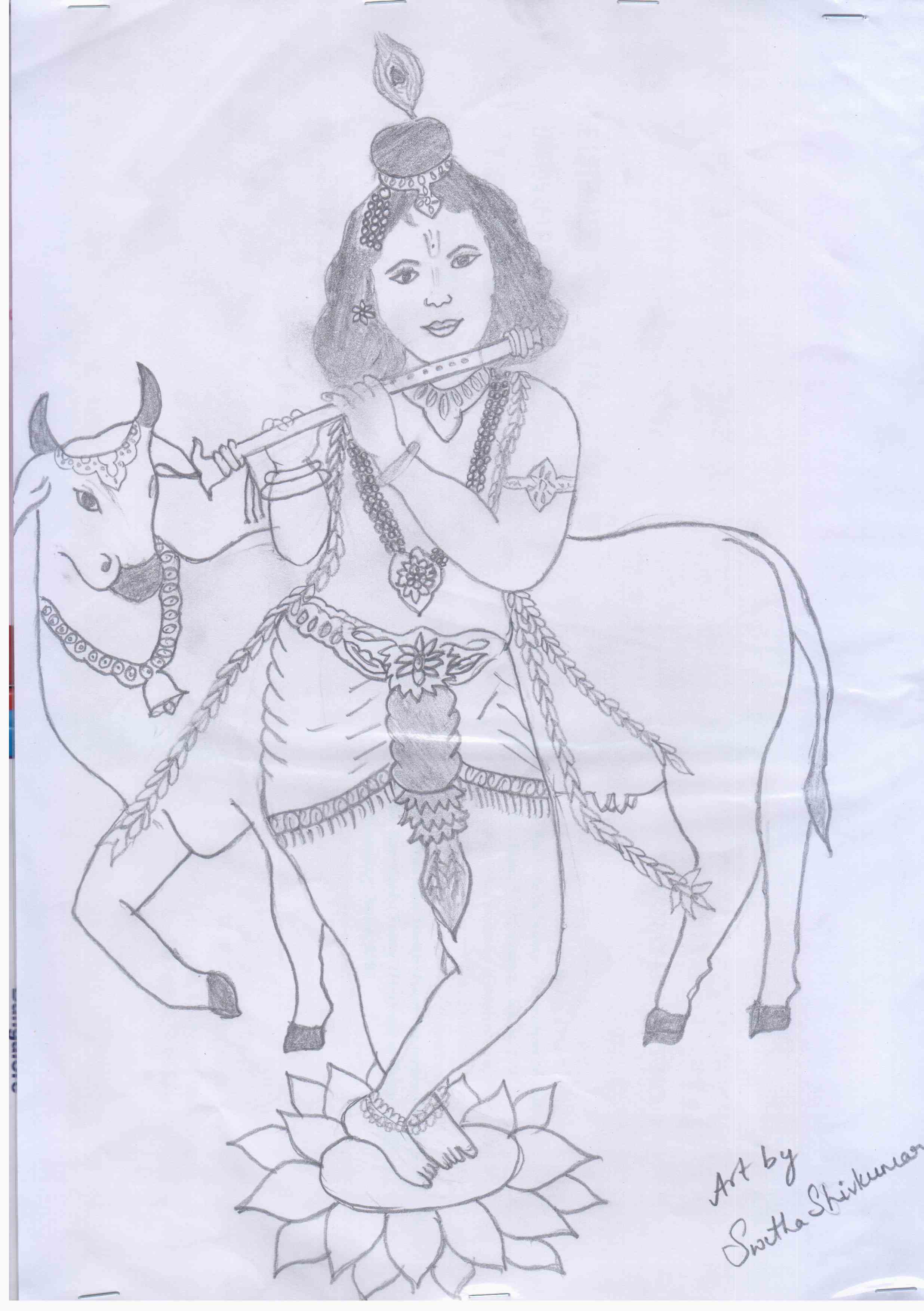 Very Easy Krishna Drawing 50 Most Beautiful Indian Paintings From