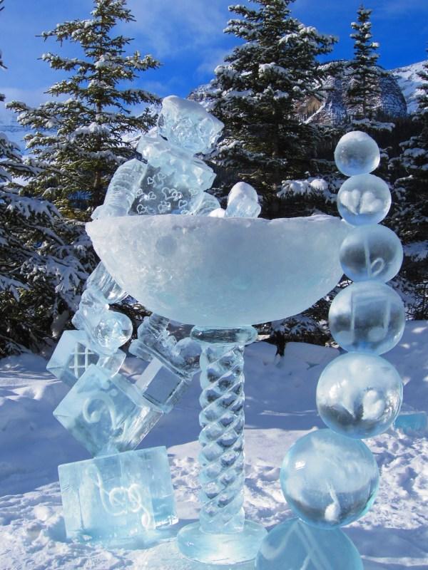 Ice Sculptures In Banff National Park Magic Festival 2013 Desiree Bilon