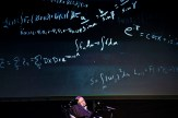 """British theoretical physicist professor Stephen Hawking gives a lecture entitled: """"A Brief History of Mine"""" during the Festival Starmus Festival on the Spanish Canary island of Tenerife on June 29, 2016. At the end of the Festival Starmus a medal will be awarded to Stephen Hawking, the new award for science communication is in honour of Professor Stephen Hawking and recognises the work of those helping to promote public awareness of science through music, arts and cinema."""