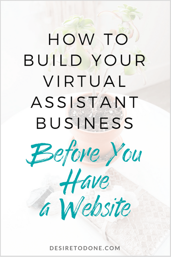 Starting a business can be stressful and overwhelming, there's so much to do! The good news is you don't have to have a website before you start taking on clients. Click to read ways to build your business before having a website.