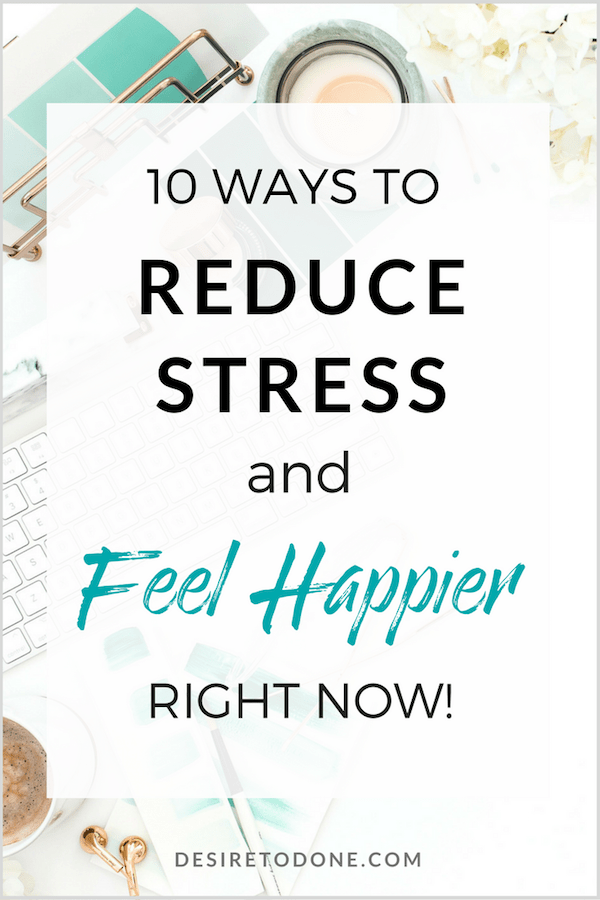 Stress not only makes us feel crappy, but it can affect our health, relationships, productivity, life, work...everything! Click to learn my favorite ways for dealing with stress and start feeling better today!